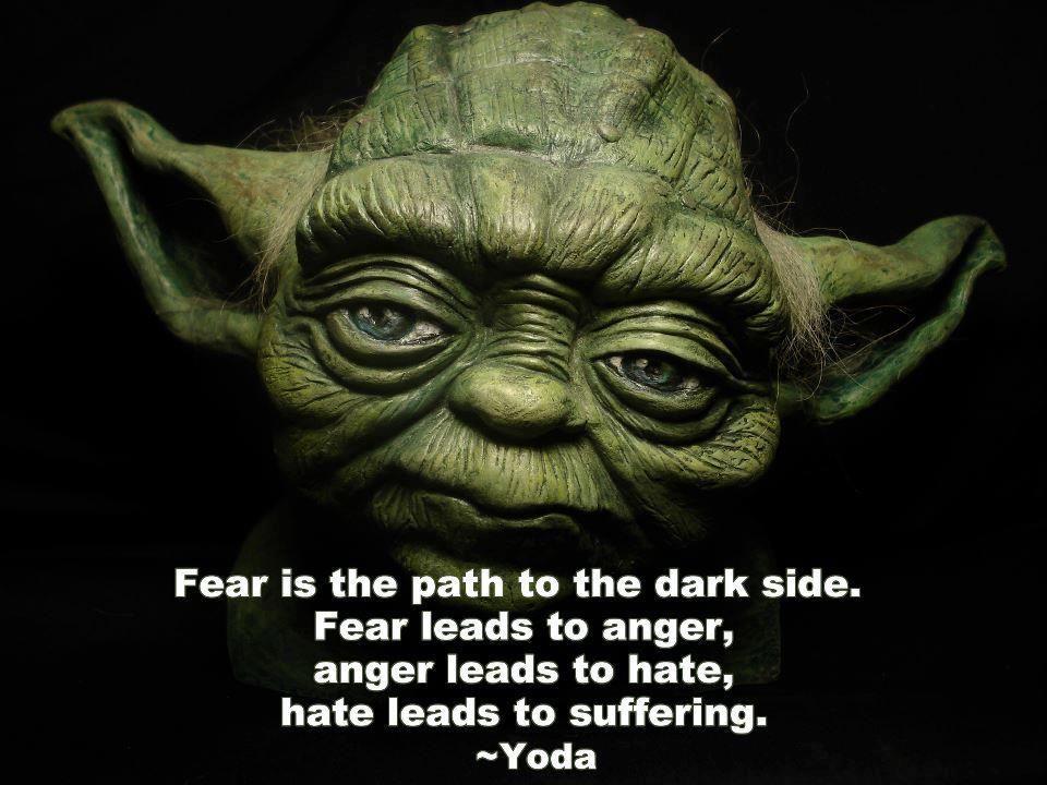 yoda - fear quote