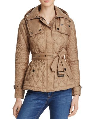 Short Finsbridge Quilted Coat In Pale Fawn Quilted Coat Women Quilted Coat Trench Coat Style
