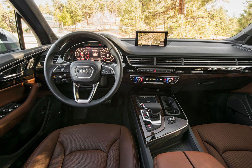 2017 Audi Q7 First Test Review Motor Trend Audi Q7 Audi Q7 Interior Audi