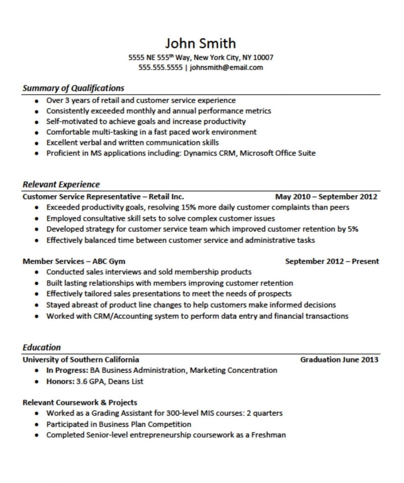 Resume Examples No Experience Resume no experience
