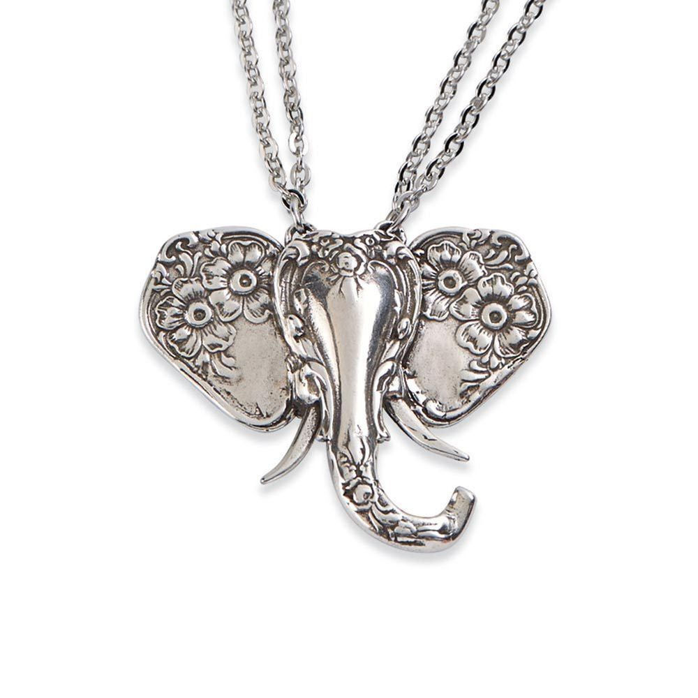 Silver Spoon Elephant Pendant Necklace #SILVERSPOONJEWELRY