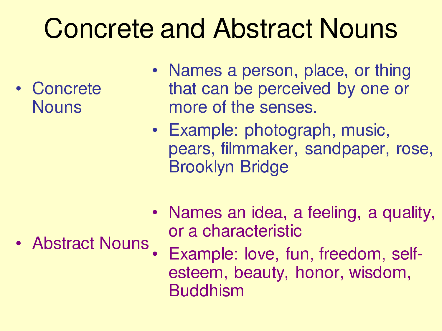 worksheet Concrete And Abstract Nouns Worksheet concrete nouns with images to share google search teaching search