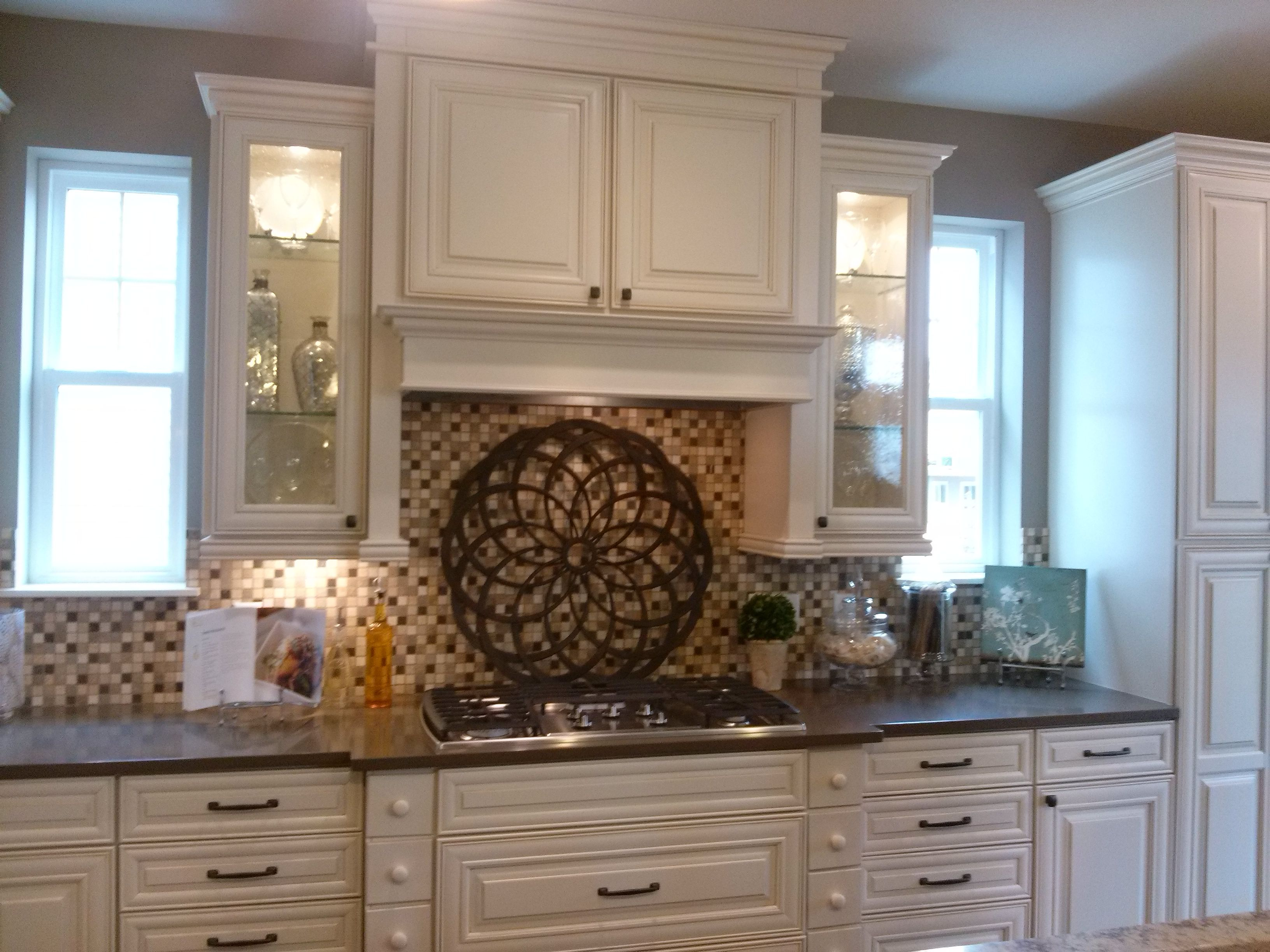 This Layout Above The Stove Top Electric Cabinets With Glass Doors On Side Cabinet No Hood