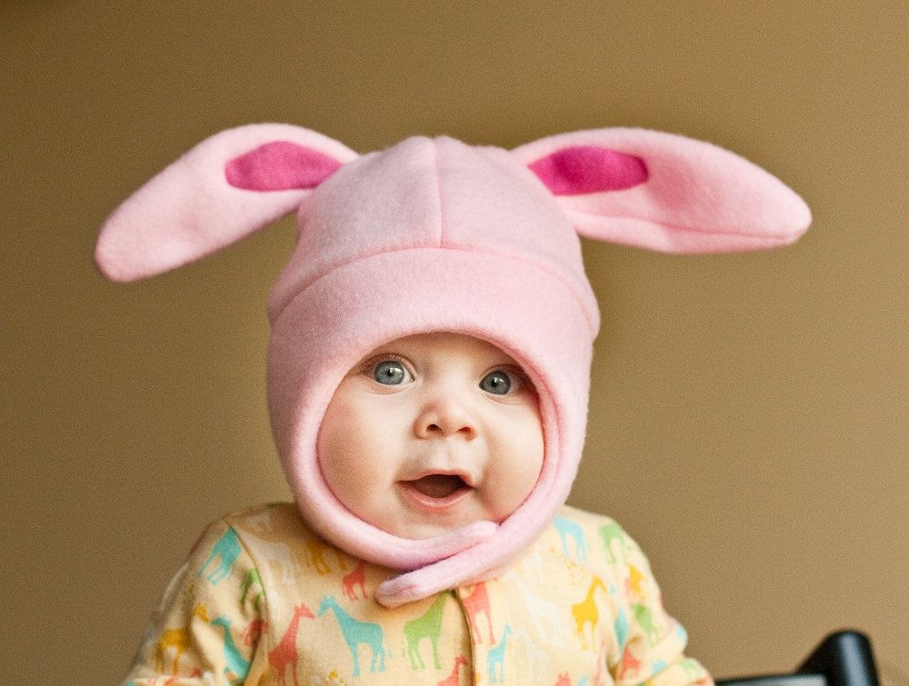121ed60efed Pink Bunny winter hats for babies and toddlers from Mrs. PTB