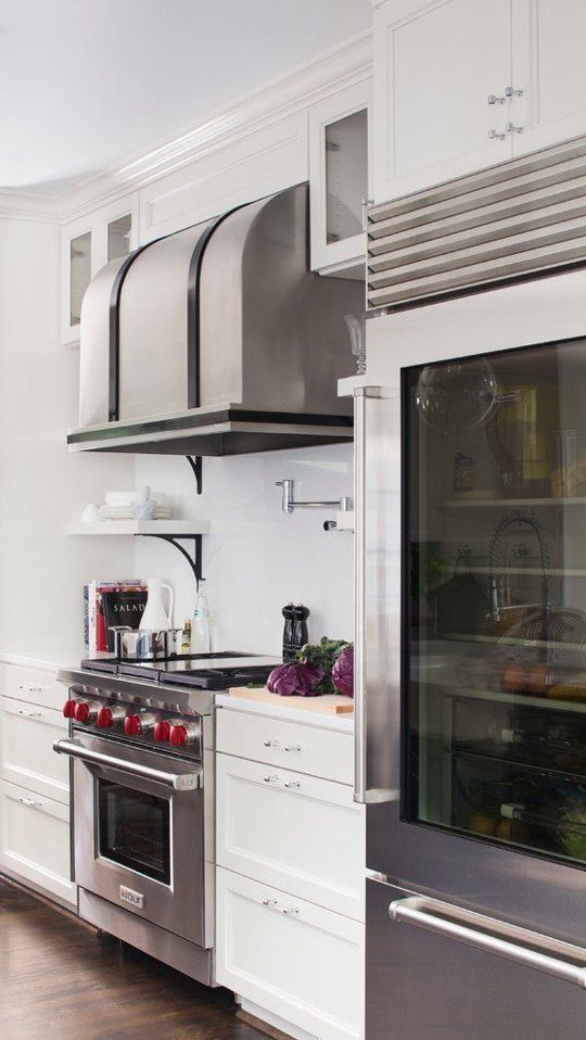 commercial kitchens custom made kitchen islands the design details to steal from 3 glass front refrigerators