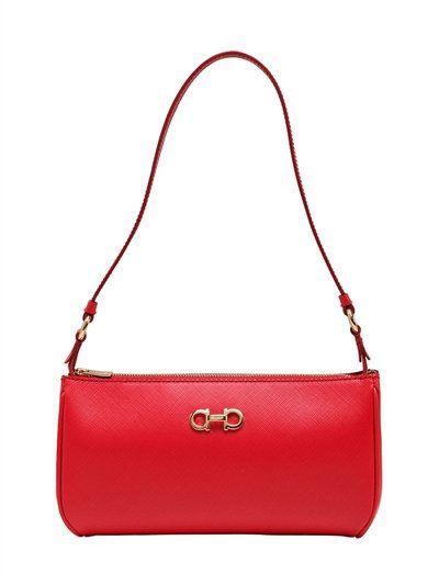 12204214b300 SALVATORE FERRAGAMO Lisetta Saffiano Leather Shoulder Bag, Red ...