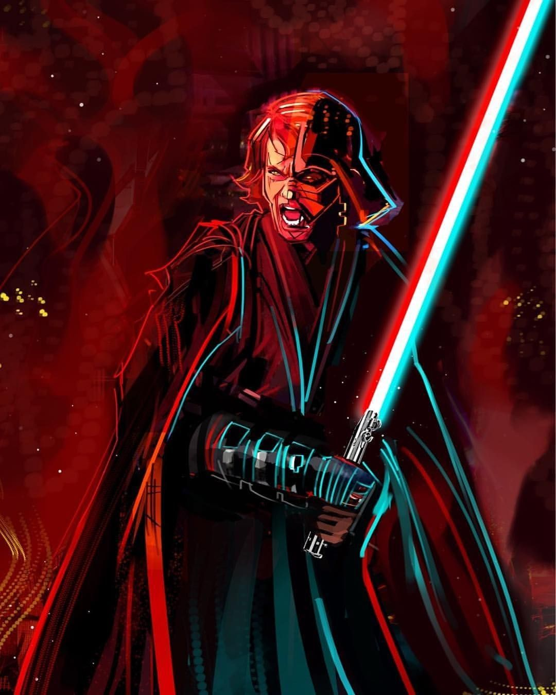 Anakin Skywalker Darth Vader With Images Star Wars Painting
