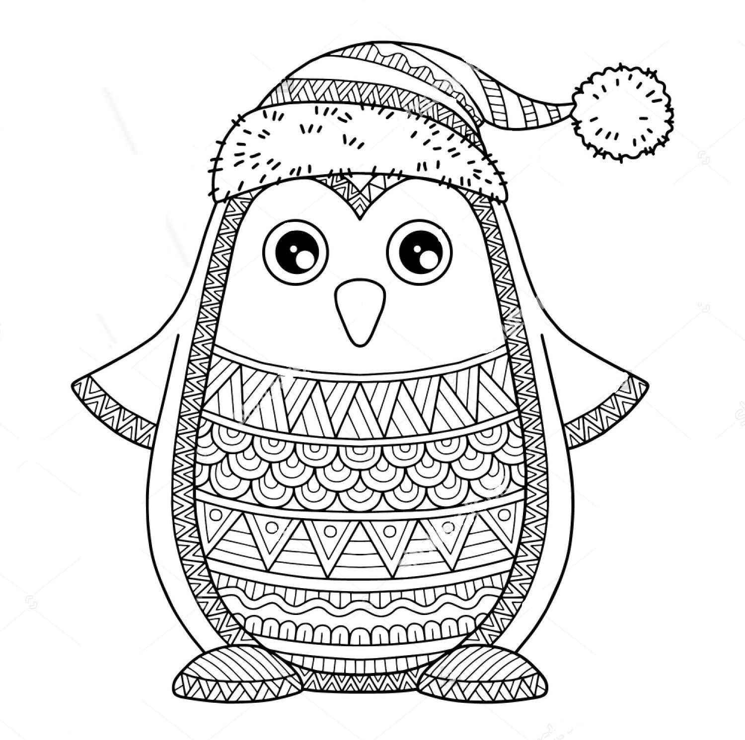 Christmas Zentangle Coloring Page Coloring Pages Winter Coloring Pages Cat Coloring Page