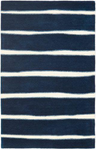 Modernrugscom Navy Blue White Striped Rug Stripes Navy Rug
