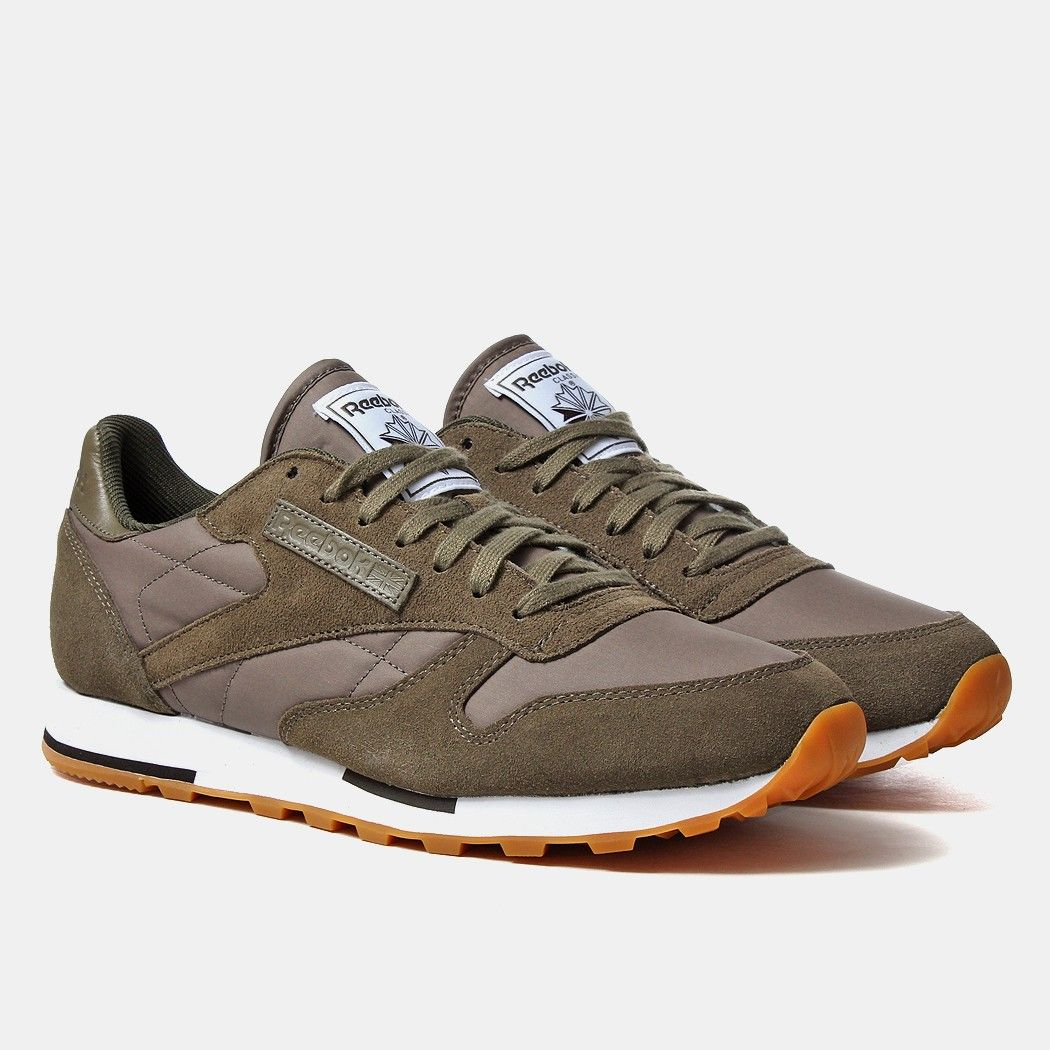 Reebok Classic Leather Utility Shoes - Modern Olive  473286ad5