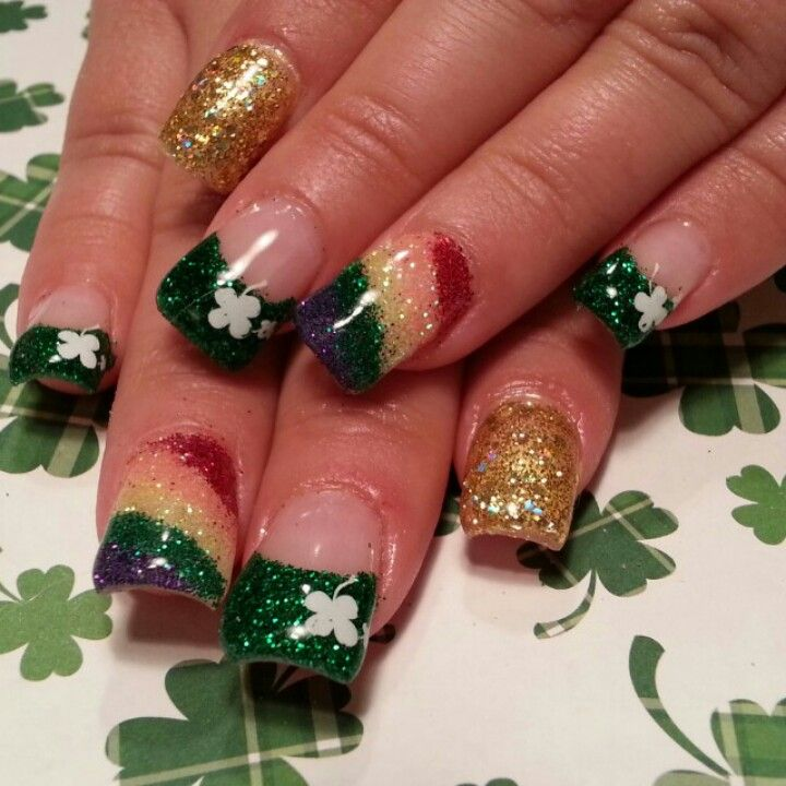 St Patrick S Nails Complete With Rainbow Saint Patrick Nail St