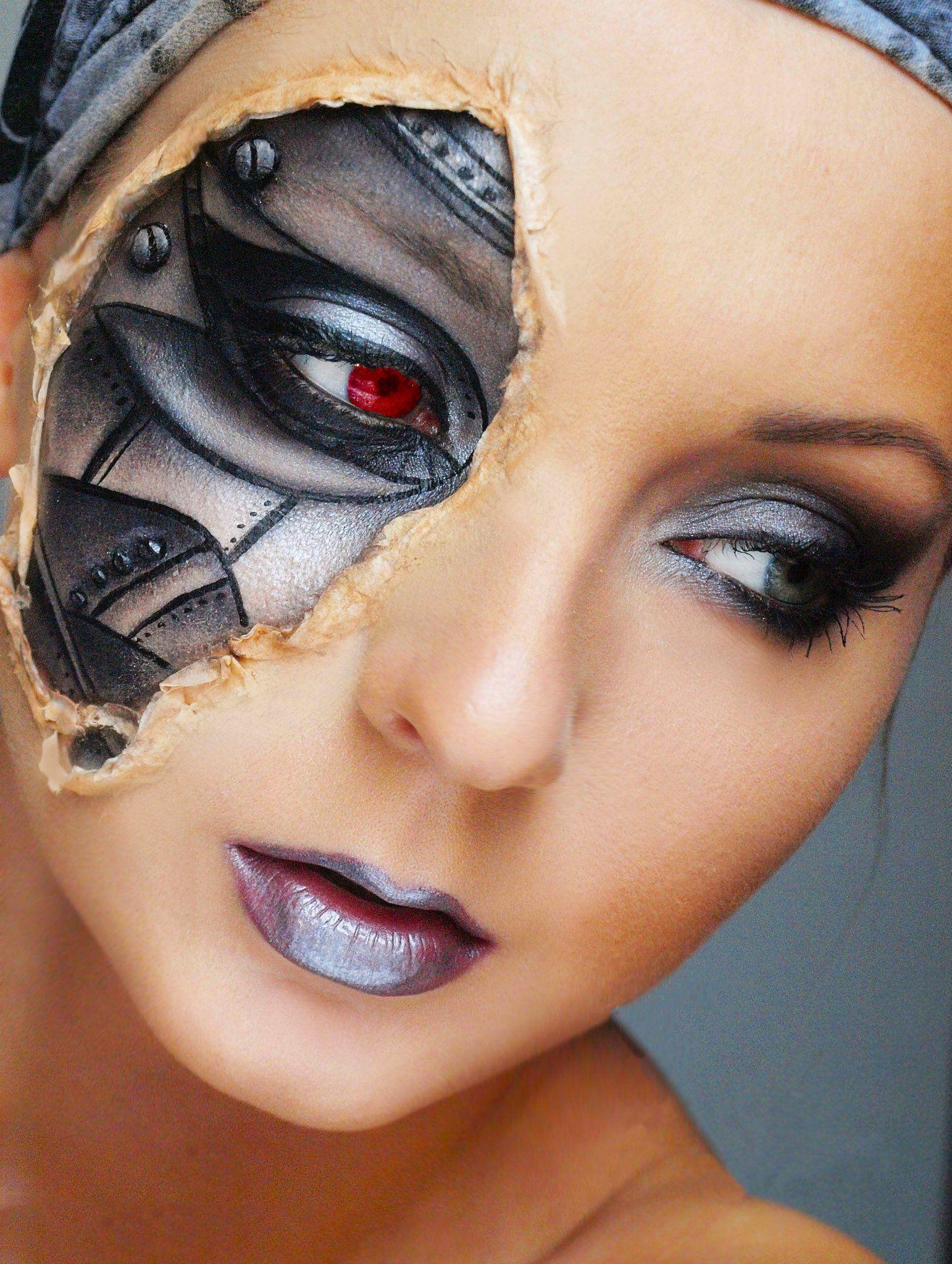 25 Ideas de maquillaje para ser la más aterradora en