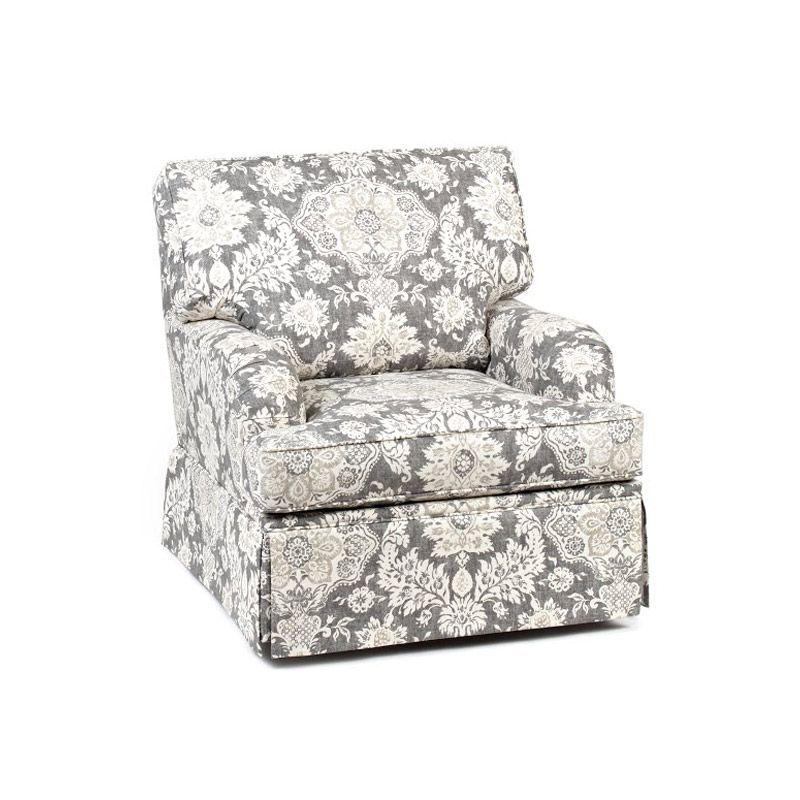 Belmont Platinum Skirted Club Chair