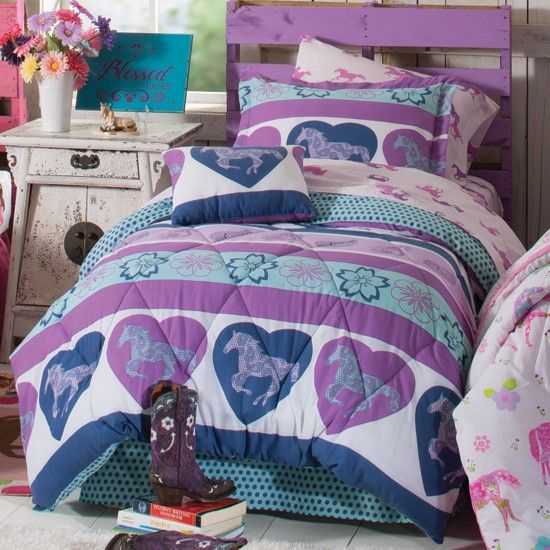 Non Girly Bedroom Ideas: Home > Purple Heart Pony Bed-In-A