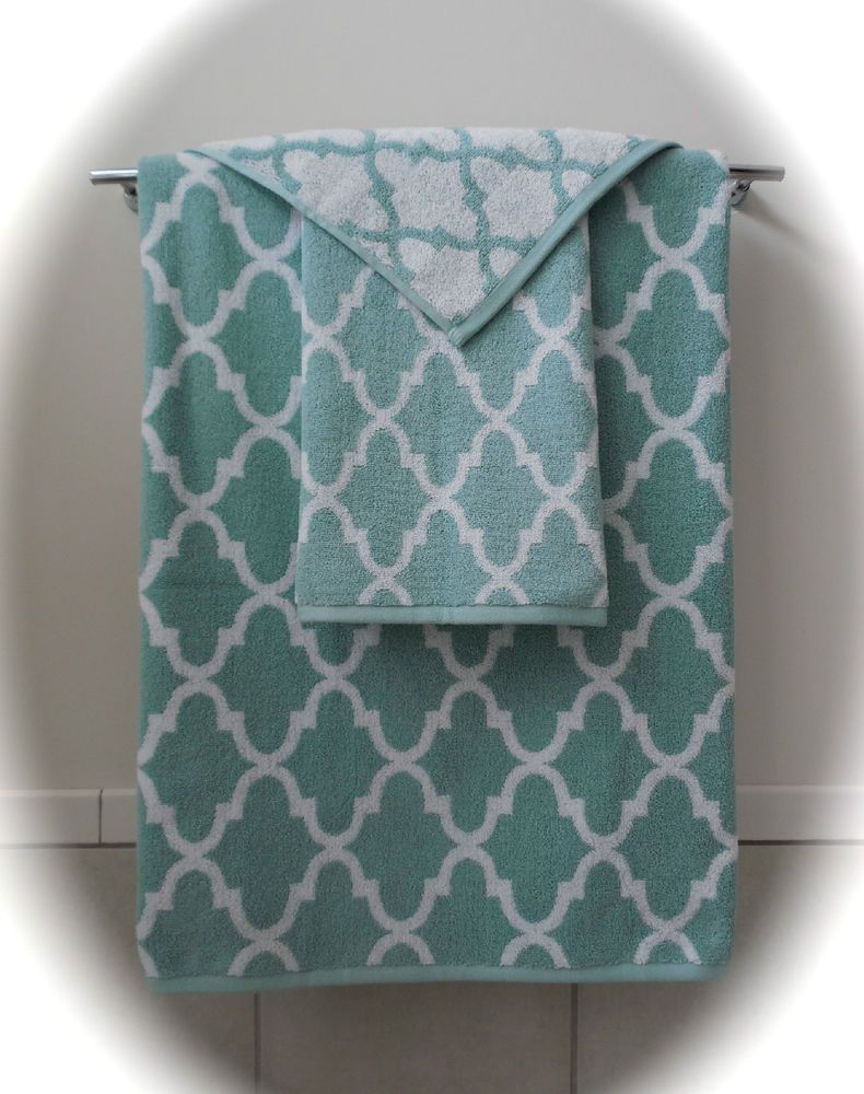Mint Green Bath Towels Delectable Cynthia Rowley~Bath Towel Sets~Light Aquamint Green & White Decorating Inspiration