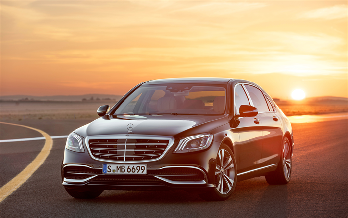 Download Wallpapers Mercedes Maybach S650 4k 2017 Cars