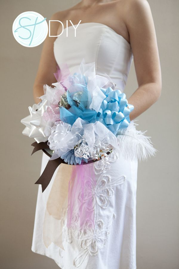 How To Make A Bridal Shower Bow Bouquet Easy Steps Bridal
