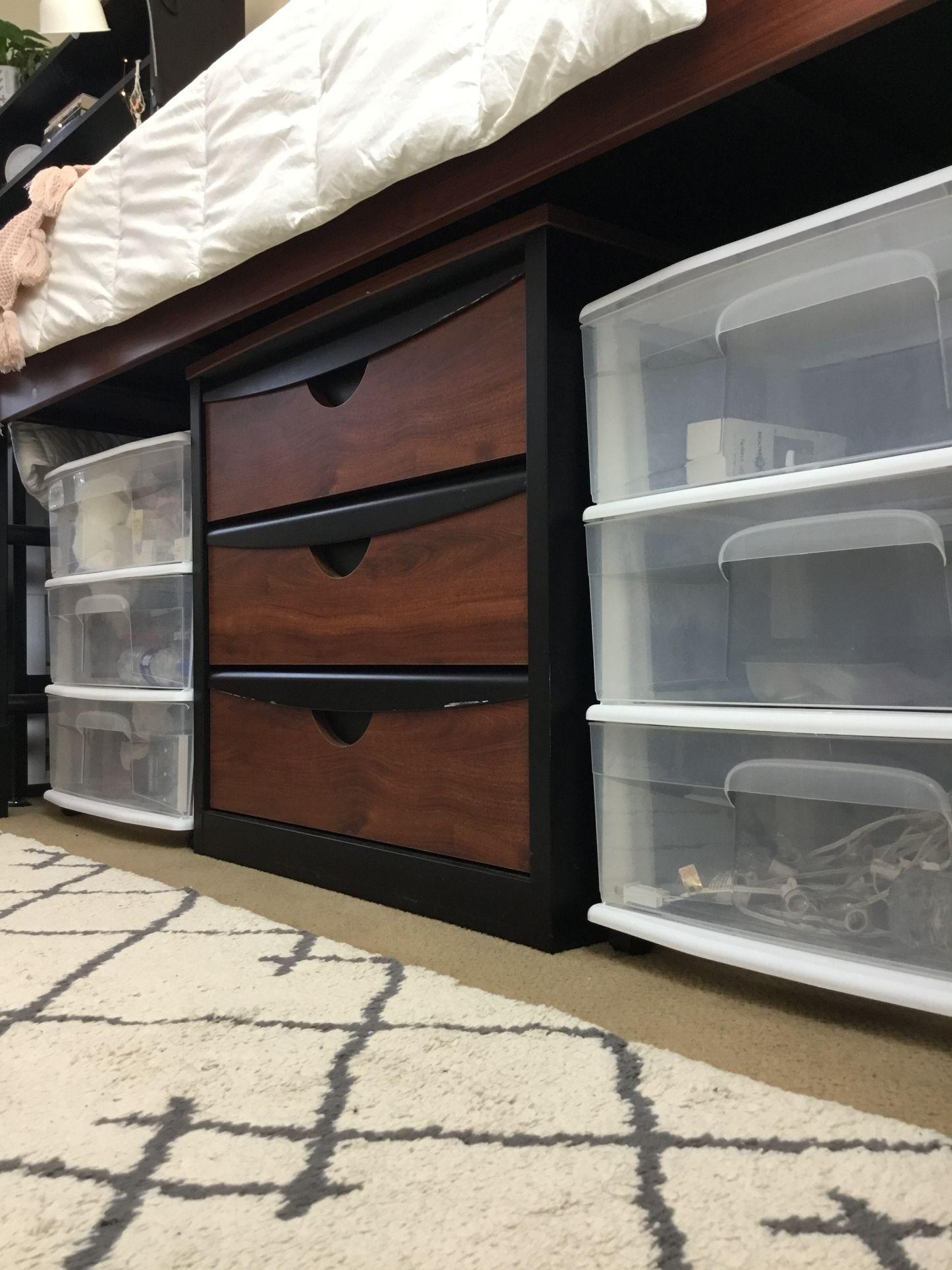 College Dorm Under Bed Storage Idea Dorm Room Storage Dorm Room Organization Storage College Dorm Storage