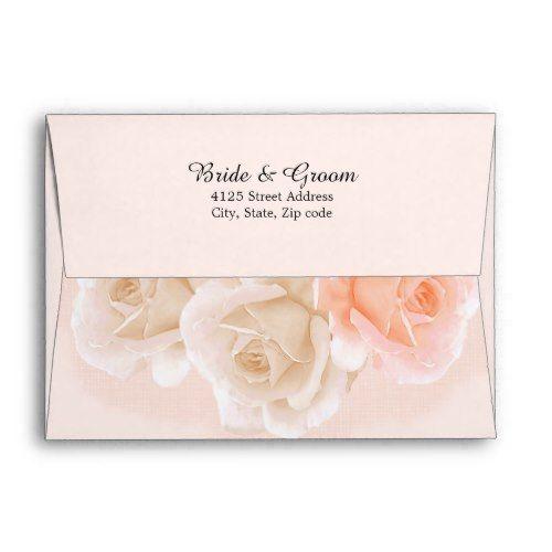 rose confection wedding invitation envelope a7 floral wedding