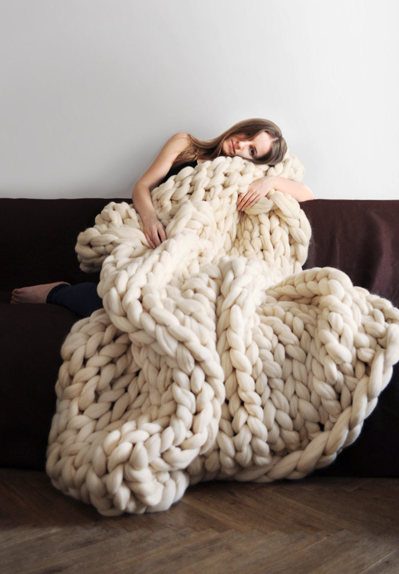 79e2e2ee2cc Giant Knit Merino Wool Blanket