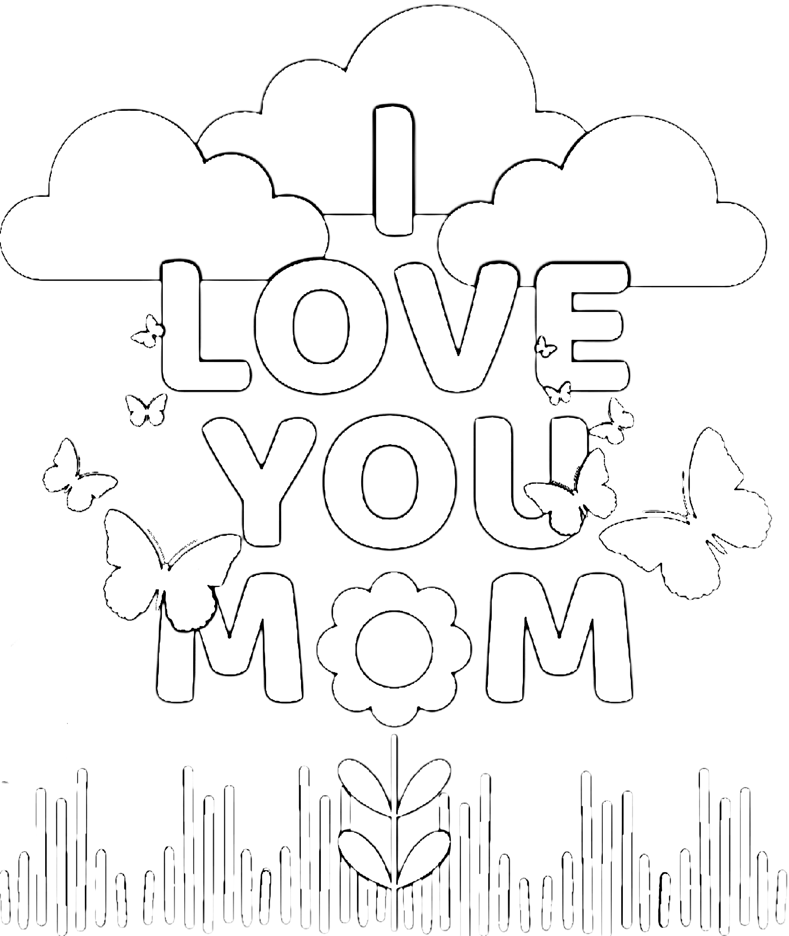 Free Printable Coloring Pages For Mom Simple Mom Project Mom Coloring Pages Free Printable Birthday Cards Birthday Card Printable