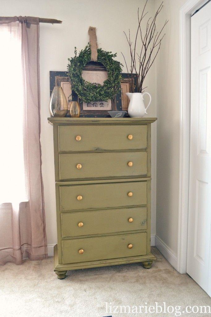 Mossy Green Dresser Re Do