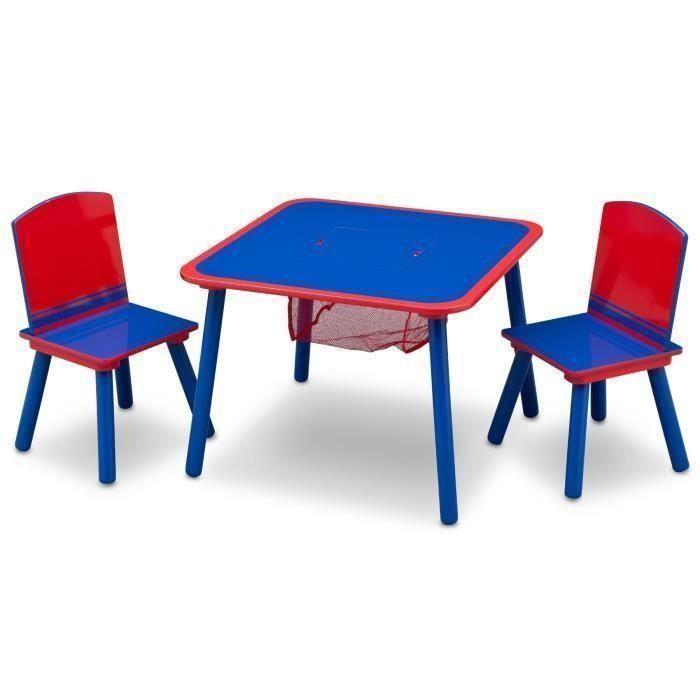 Deltakids Ensemble Table Et 2 Chaises Bois Enfant Bleu Et Rouge Chaises Bois Enfant Bleu Et Chaise