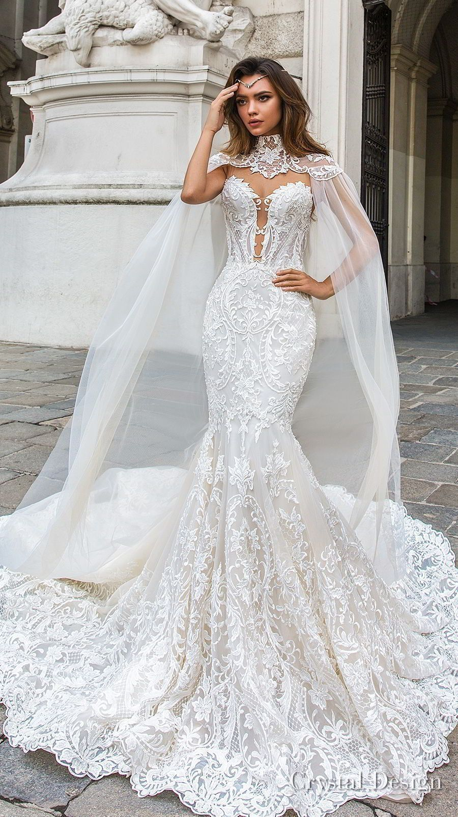 f852a78e3d3 cool 53 Simple And Unique Mermaid Wedding Dress Ideas  http   viscawedding.com