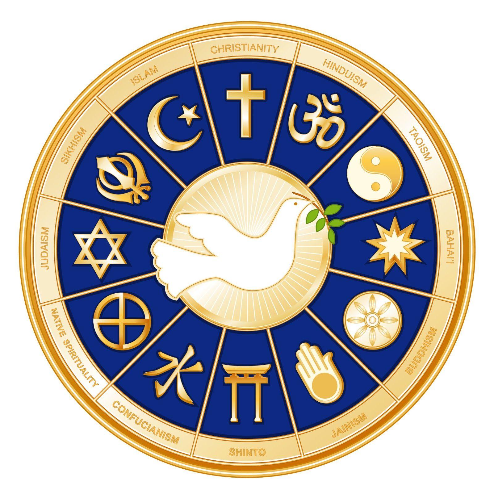 Progressive judaism and interfaith dialogue interfaith symbols illustration of world religions international peace symbol islam christianity vector art clipart and stock vectors biocorpaavc