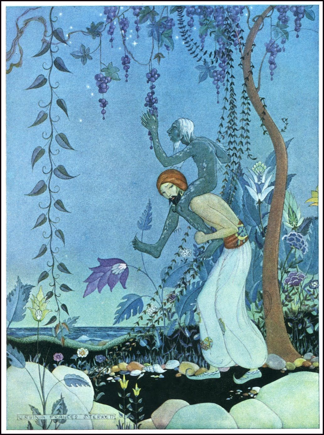 Image result for Edmund Dulac the fifth voyage of sinbad