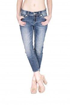 BLUE MONKEY Damen 78 Jeans mit Nieten Romy 3541 | Blue
