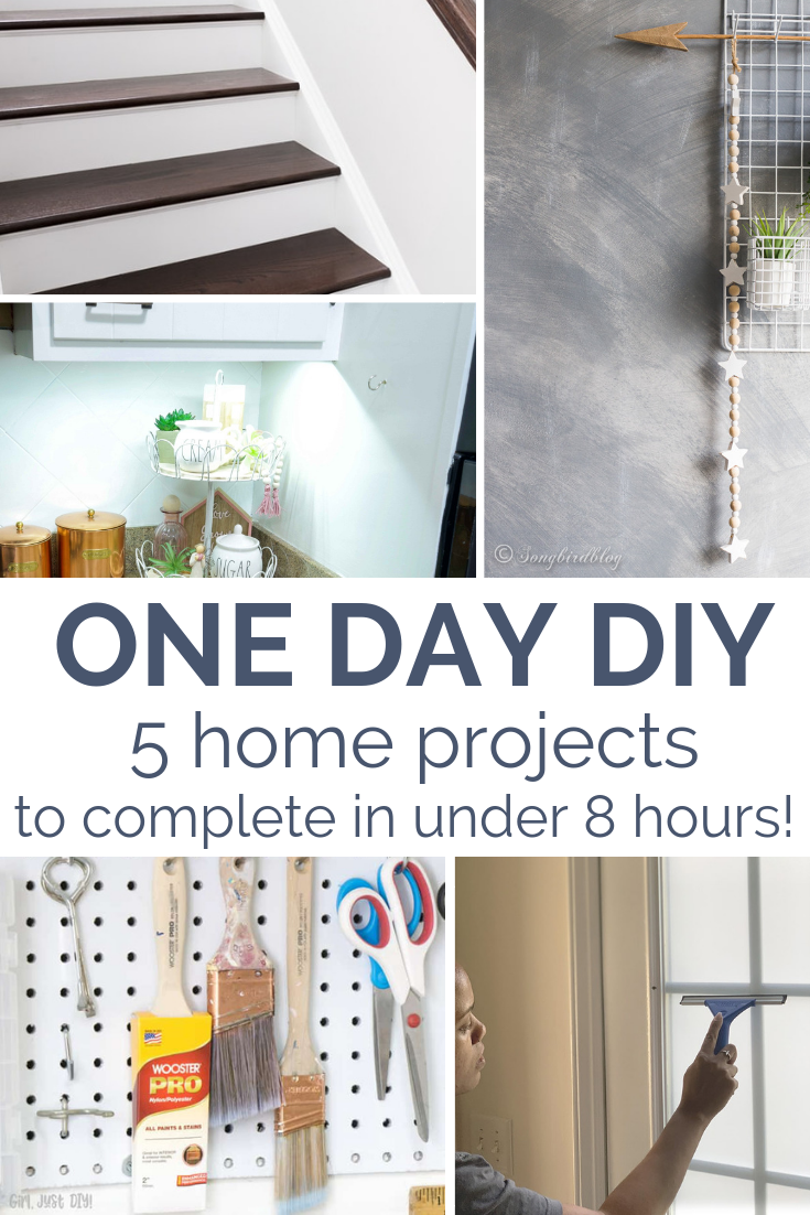 One Day Diy Home Improvement Projects My Top 5 Favorite Projects That Make Your Home More Polished Super F Home Improvement Home Improvement Projects Home Diy