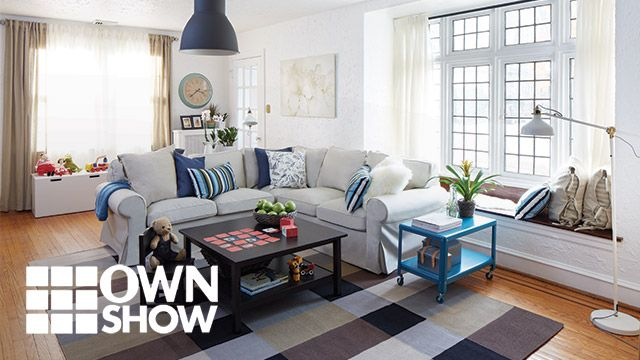 Create Your Space Contest winner Kathleen Garner recreates this family room, making it cozy and accessible: