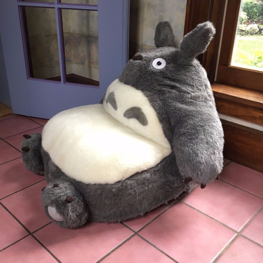Cute Plush Totoro Chair by Ensky - Studio Ghibli - Officially Licensed