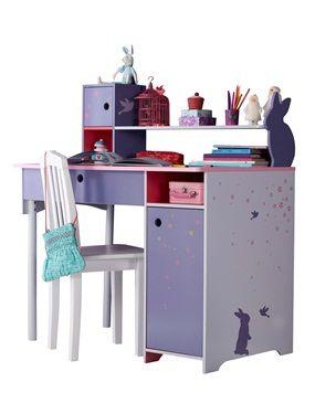 Grand bureau fille thème magie rose, Chambre Enfant | Kid\'s room ...