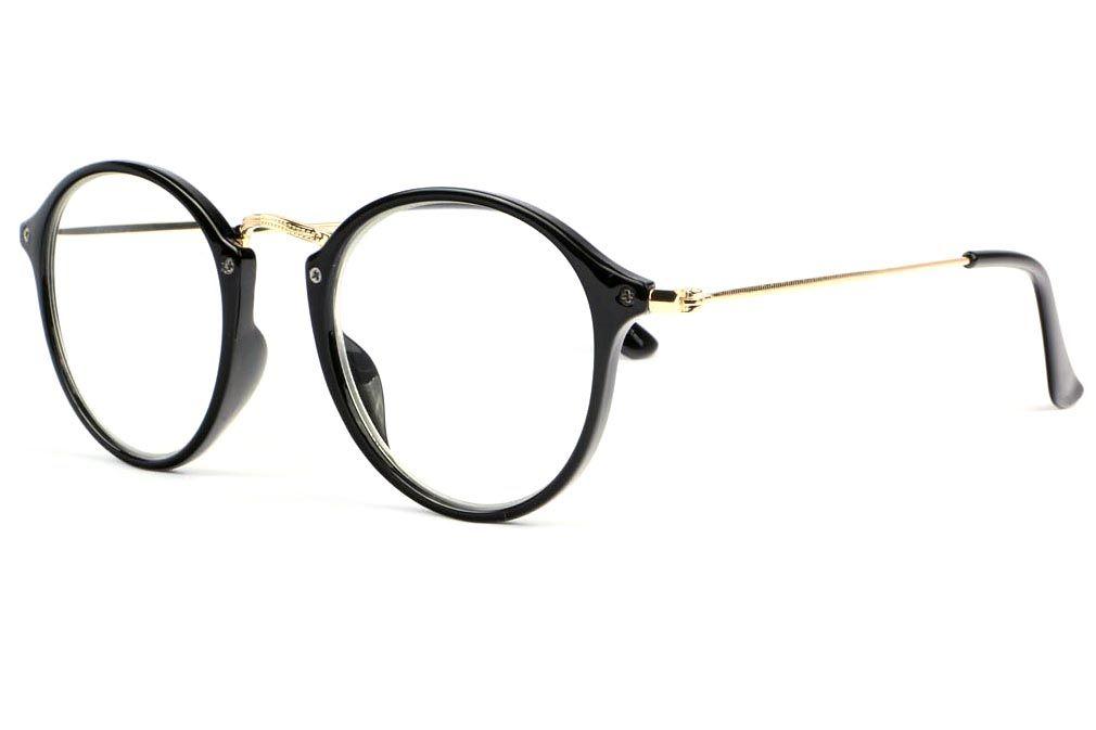 ff32240a9cb Belles lunettes loupe originales homme et femme fine monture noire et dorée  confortable référence Excy collection