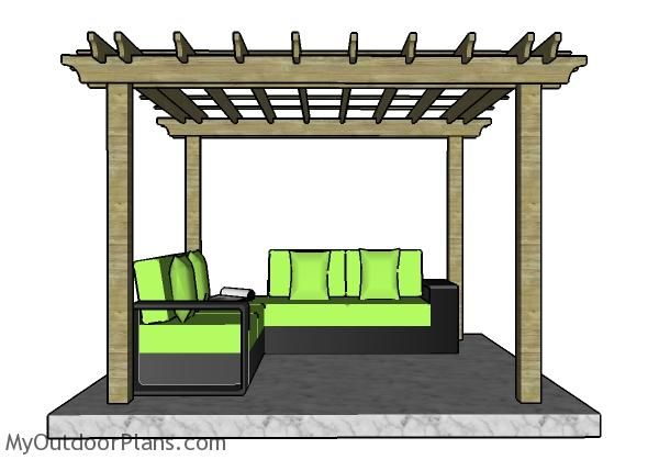 10x10 Pergola Plans Myoutdoorplans Free Woodworking Plans And Projects Diy Shed Wooden Playhouse Pergola Bbq In 2020 Pergola Plans Play Houses Pergola Kits