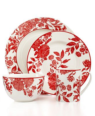 Martha Stewart Collection Dinnerware Red Orleans Collection Red