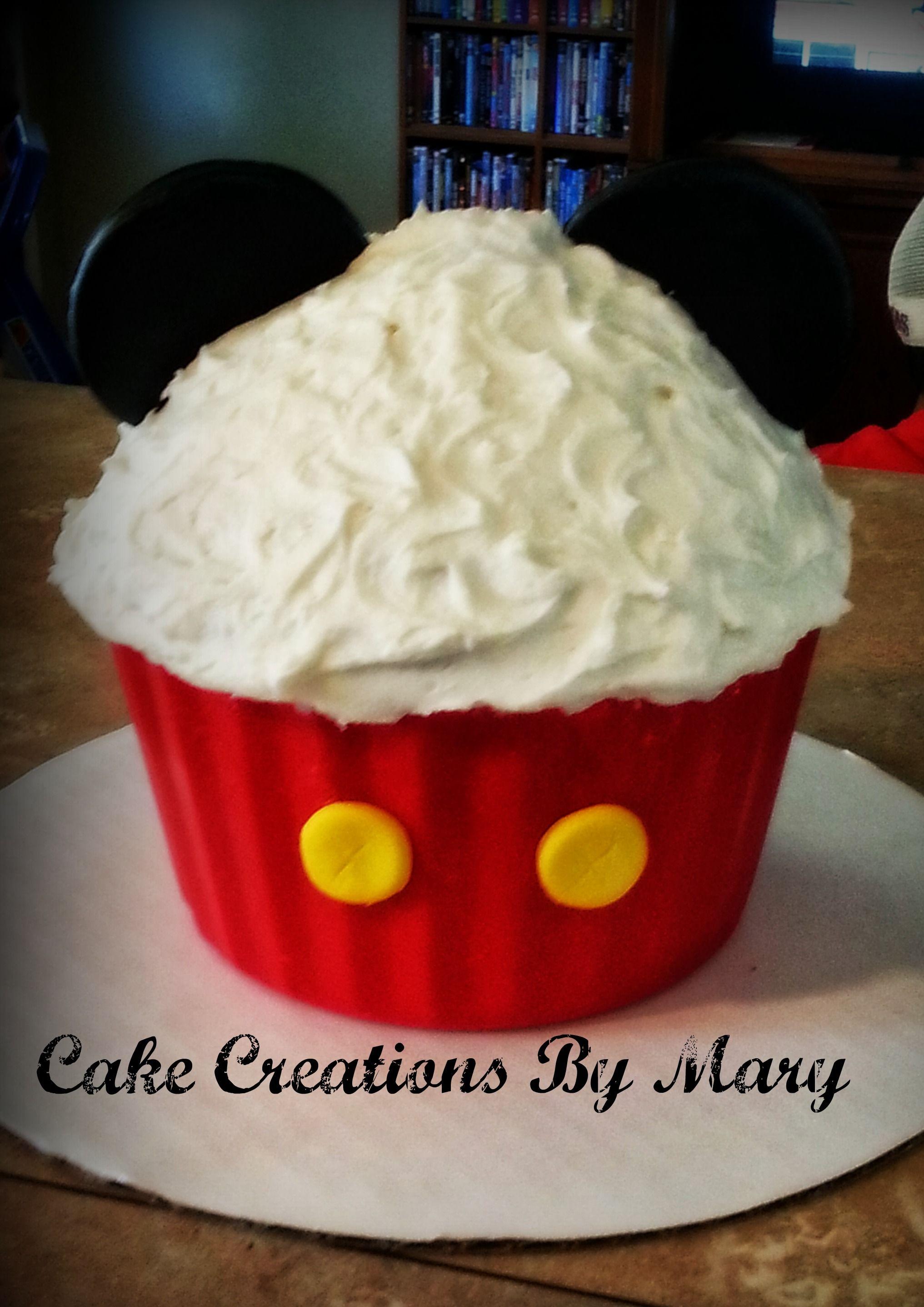 Cake Smash Mickey Mouse Giant Cupcake Smash Cake