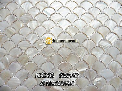 fish scale pattern pure white natural shell tiles backsplash - Ebay Küchen Kaufen