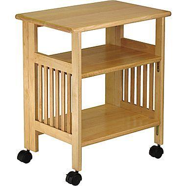 Winsome Mission 2 Shelf Wood Mobile Printer Stand Brown 81628 Moveis De Madeira Mesa Para Notebook Escritorio Em Casa
