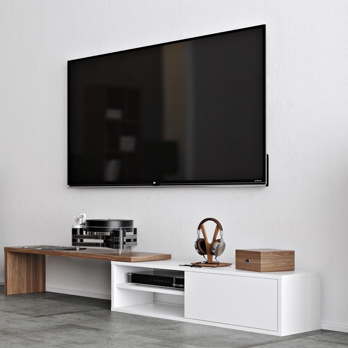 Move Tv Stand Is A Modern And Functional Piece Of Furniture Designed To Organize Living Rooms En Tv Cabinets White Entertainment Stand Contemporary Furniture