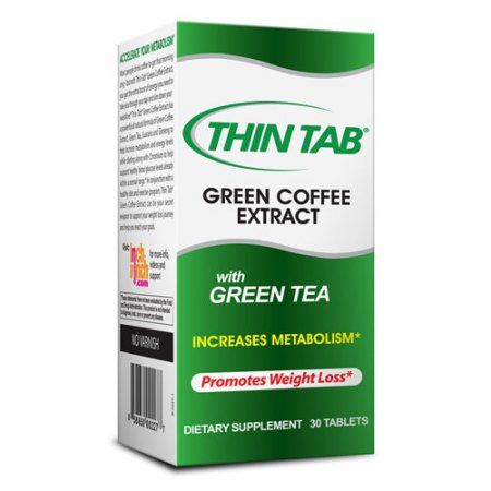 Thin Tab Green Coffee Extract With Green Tea Dietary Supplement