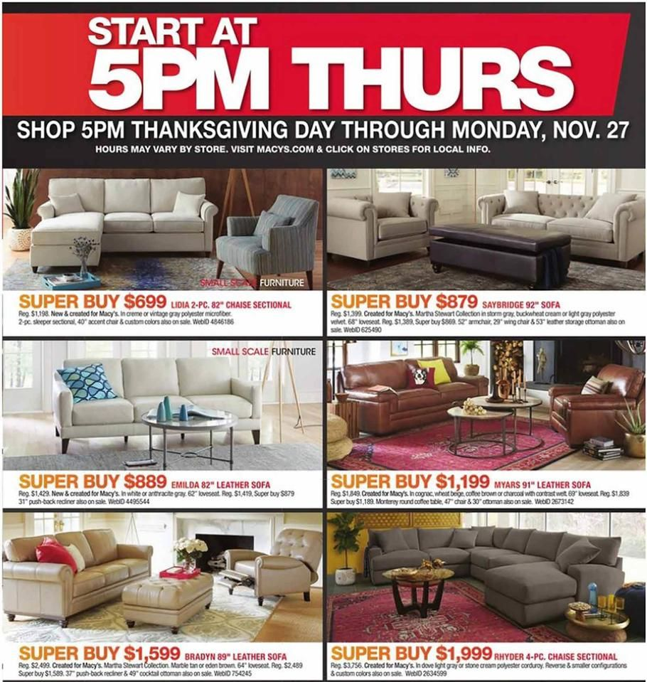 sectional sofa black friday 2017 2 seater electric recliner with console macys ads and deals if you love designer bags shoes name brand clothes quality furniture kitchen home items but hate hefty