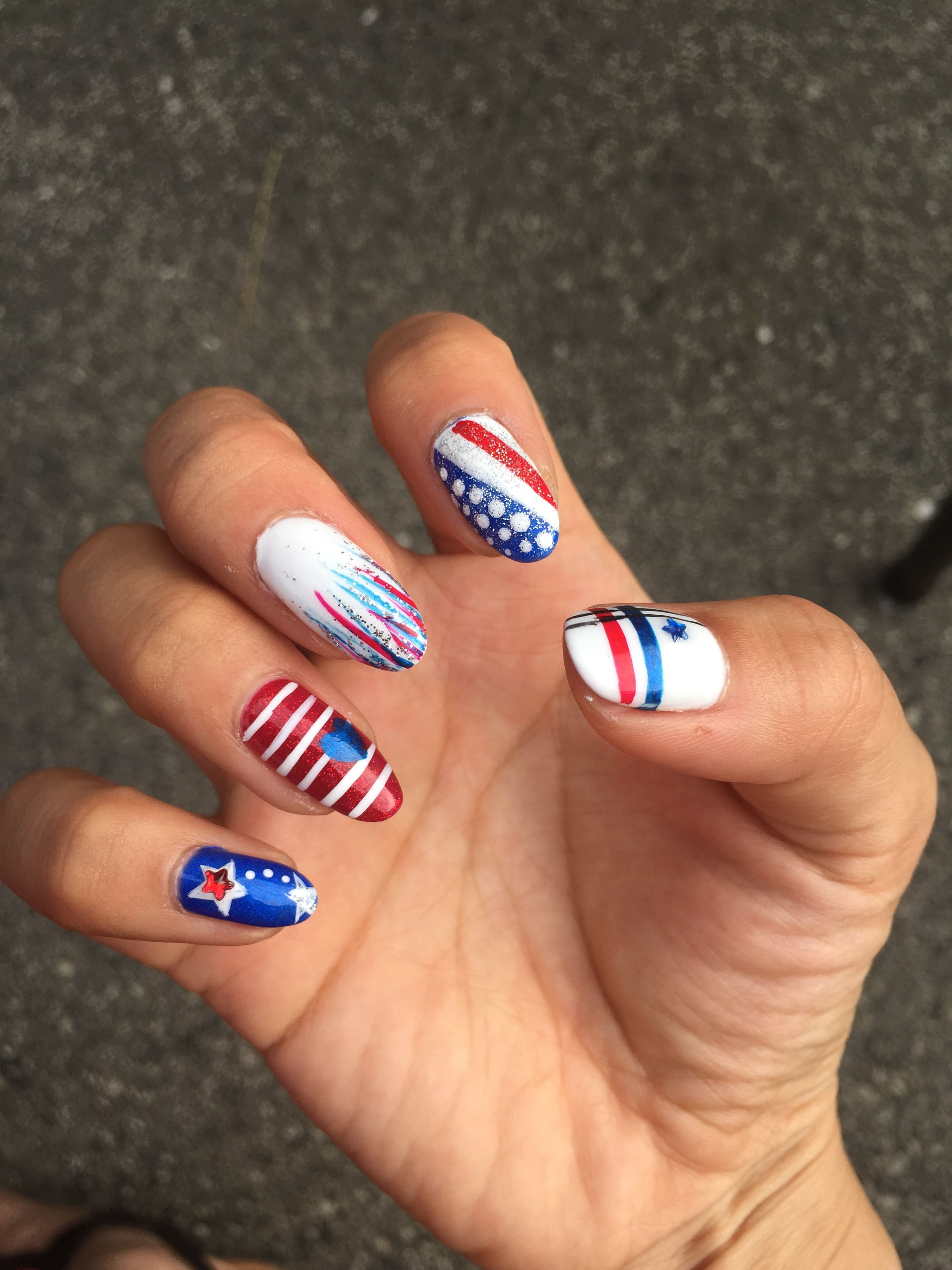 Fourth Of July Nails By Casey Vip Nails Tinley Park 74