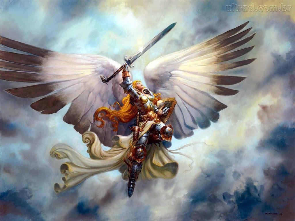 Arcanjo Miguel E Deus Papel De Parede Anjo Guerreiro 1024x768