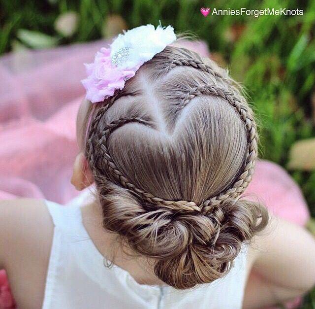 Heart Braid Hairstyle. Valentine's Day.