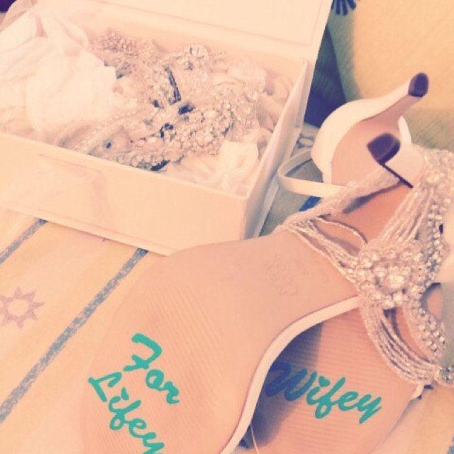 f274cb2cb23 Wedding shoes stickers - Wifey for lifey