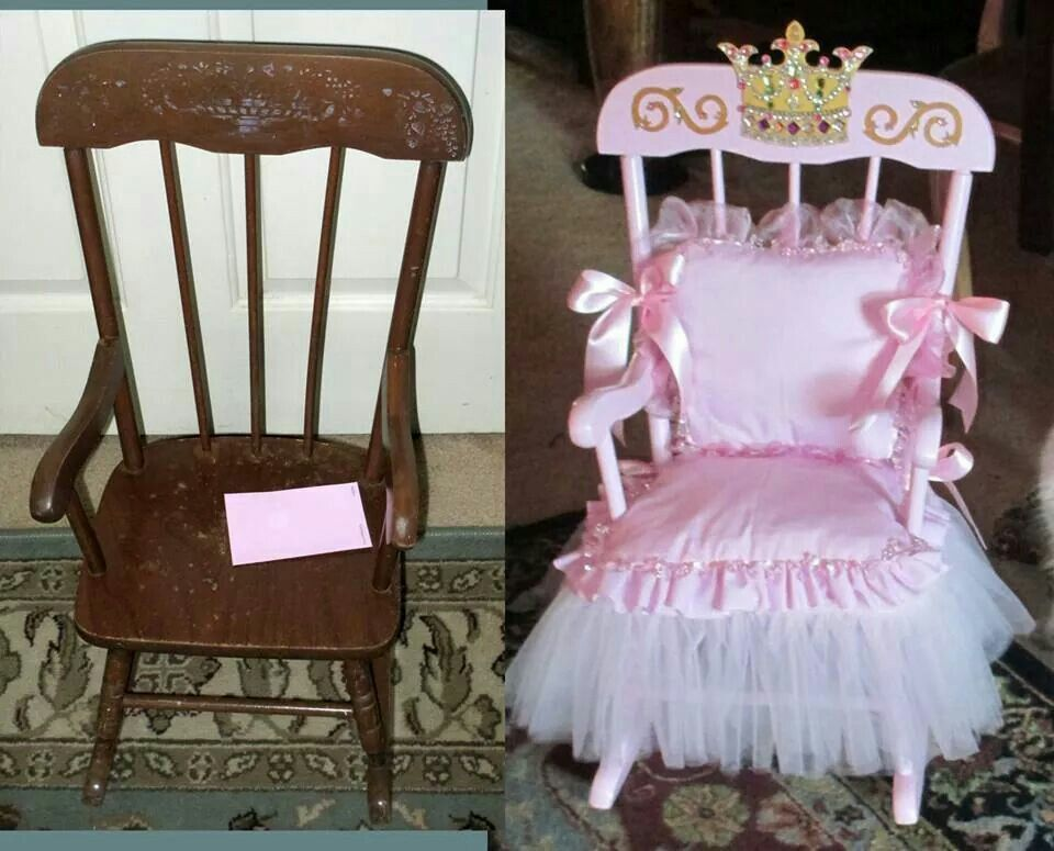 Princess chair  Pink things  Kids recliner chair