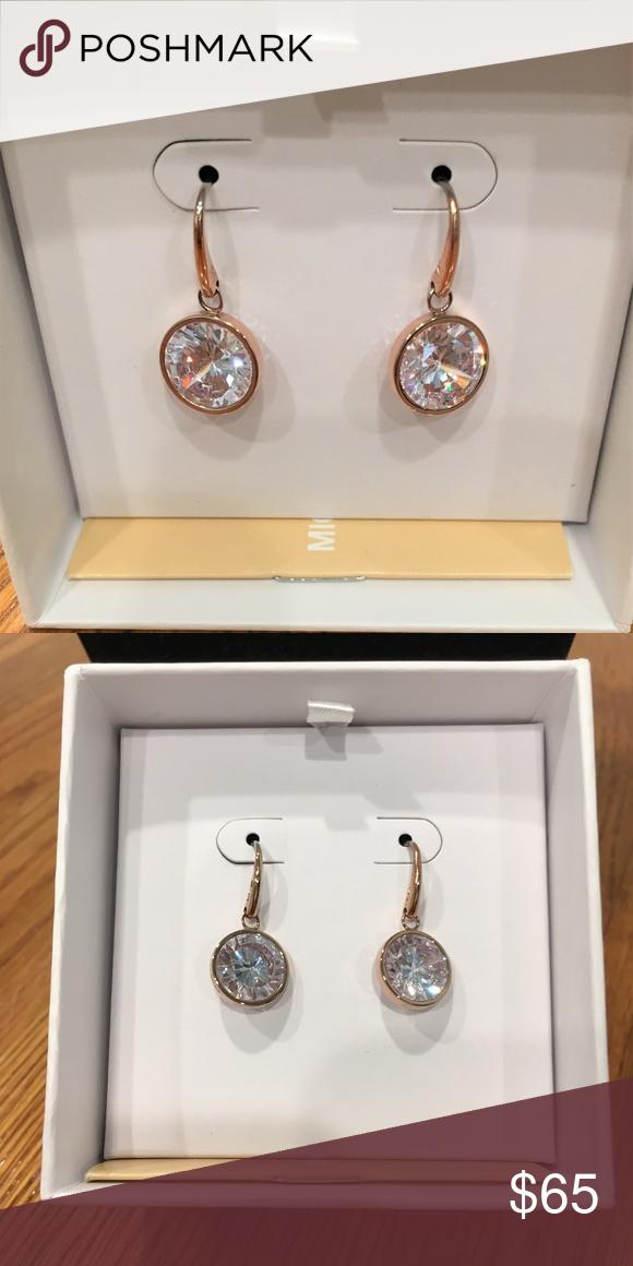 eebb2d5e196b Michael Kors MKJ5508791 Brilliance Drop Earrings Michael Kors MKJ5508791  Women Brilliance Crystal Rose Gold Tone Drop Earrings New in Box Michael  Kors ...